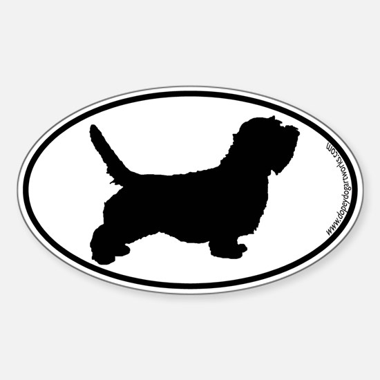 PBGV SILHOUETTE Oval Decal