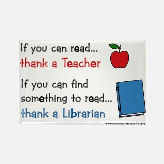 Teacher...Librarian Rectangle Magnet