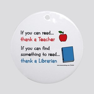 Teacher...Librarian Ornament (Round)