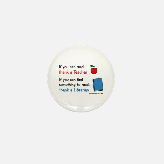Teacher...Librarian Mini Button