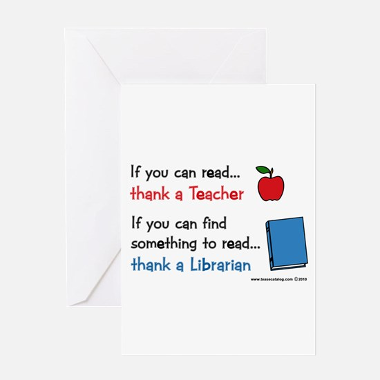 Teacher...Librarian Greeting Card