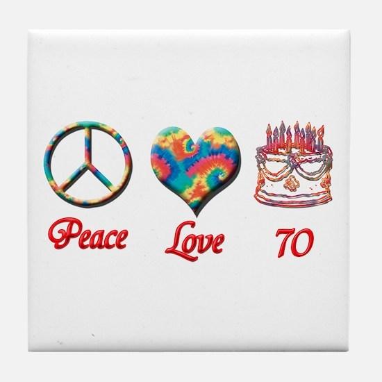 Cute Seventieth birthday Tile Coaster