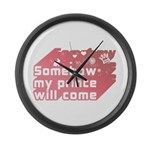 Somehow my prince will come Large Wall Clock