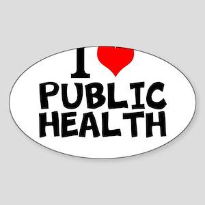 I Love Public Health Sticker