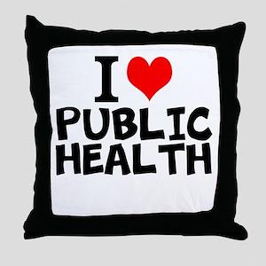 I Love Public Health Throw Pillow
