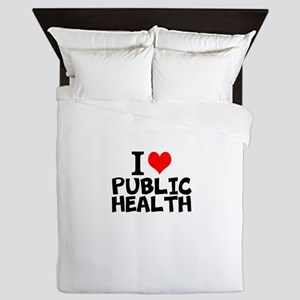 I Love Public Health Queen Duvet