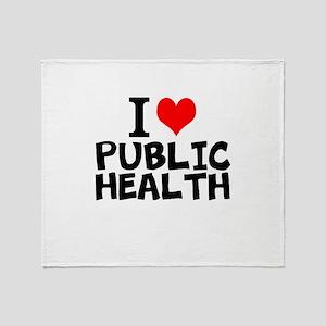 I Love Public Health Throw Blanket
