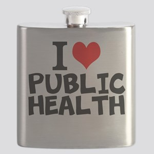 I Love Public Health Flask