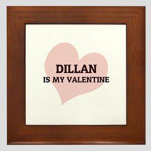 Dillan Is My Valentine Framed Tile