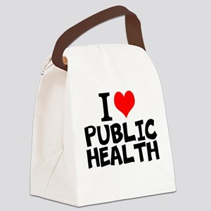 I Love Public Health Canvas Lunch Bag