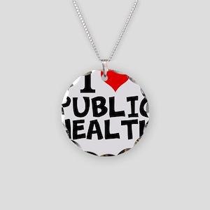I Love Public Health Necklace