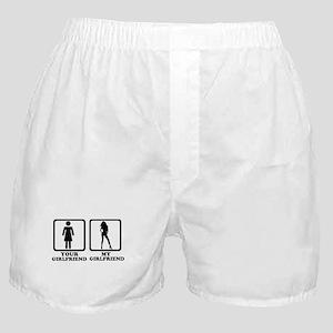 Your girlfriend my girlfriend Boxer Shorts