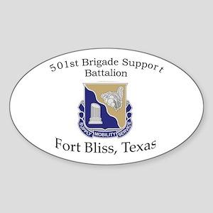 501st Brigade Support Bn Sticker (Oval)