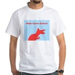 Make Cancer Extinct T-Rex White T-Shirt