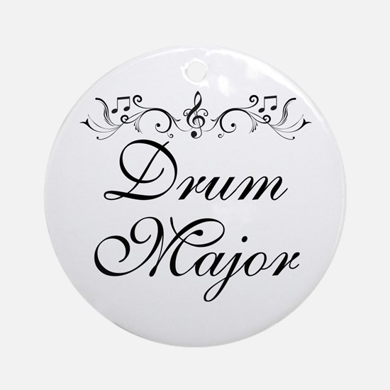 Stylish Drum Major Ornament (Round)