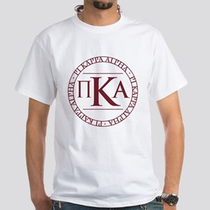 Pi Kappa Alpha Circle White T-Shirt