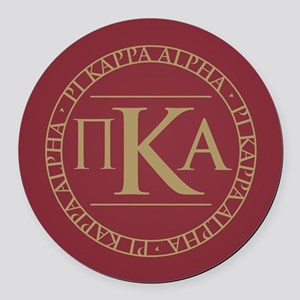 Pi Kappa Alpha Circle Round Car Magnet