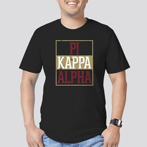 Pi Kappa Alpha Stacked Men's Fitted T-Shirt (dark)