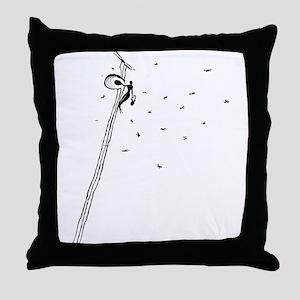 Ancient Honey Gatherer Throw Pillow