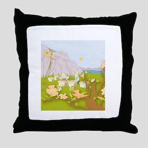 Beekeeping Paradise Throw Pillow