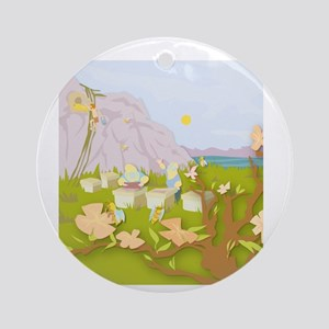 Beekeeping Paradise Ornament (Round)