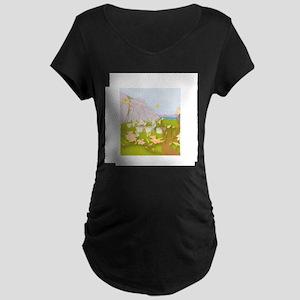 Beekeeping Paradise Maternity Dark T-Shirt