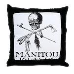 Manitou Islands Throw Pillow
