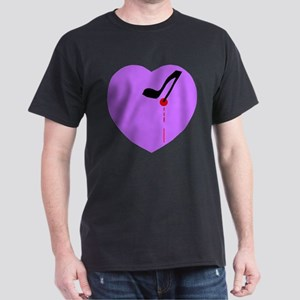 Stilleto Heart Black T-Shirt