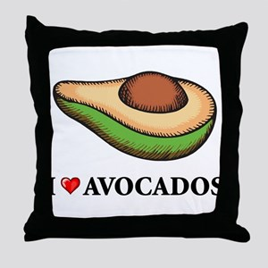 I Love Avocado Throw Pillow
