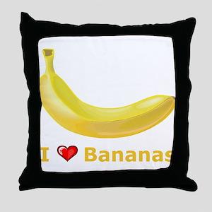 I Love Banana Throw Pillow