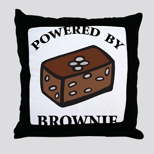 Powered By Brownie Throw Pillow