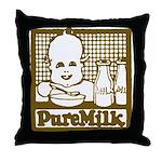 Vintage Pure Milk Throw Pillow