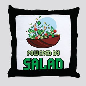Powered By Salad Throw Pillow