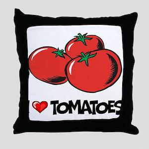 I Love Tomatoes Throw Pillow