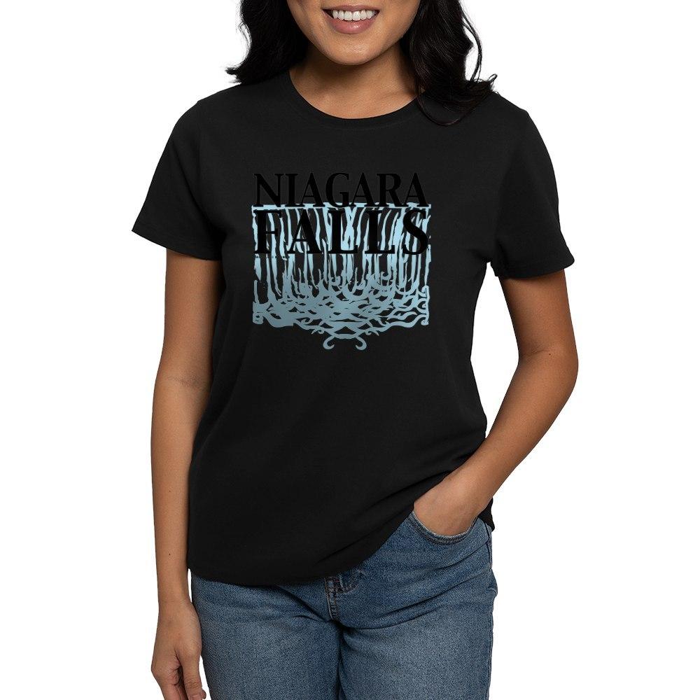 CafePress-Niagara-Falls-Women-039-s-Dark-T-Shirt-Women-039-s-Cotton-T-Shirt-459128369 thumbnail 3