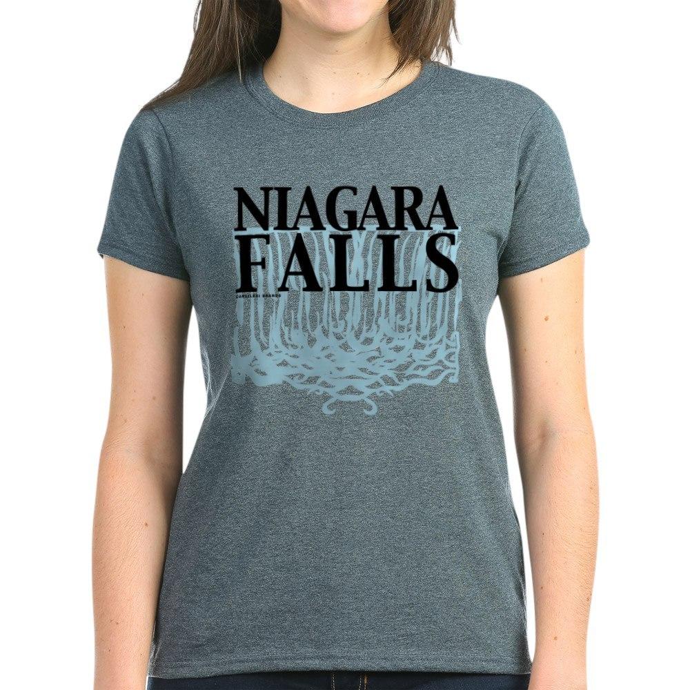 CafePress-Niagara-Falls-Women-039-s-Dark-T-Shirt-Women-039-s-Cotton-T-Shirt-459128369 thumbnail 25