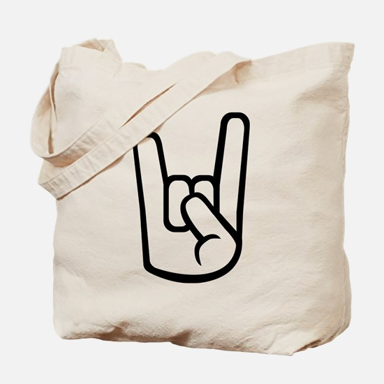 Rock Hand Tote Bag
