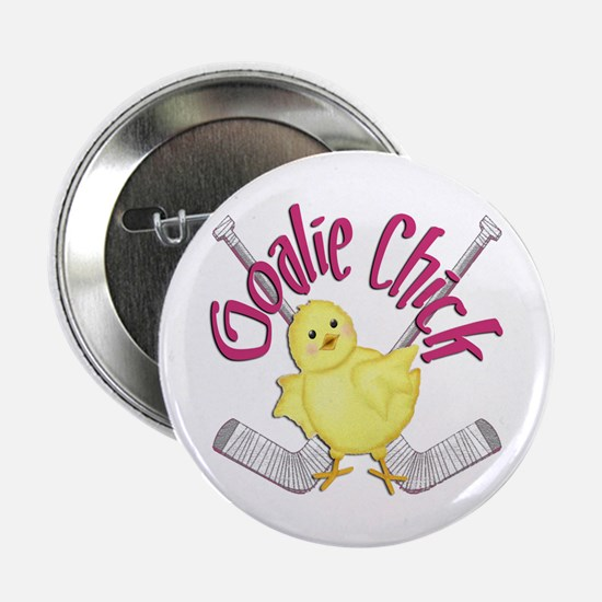 Goalie Chick Button