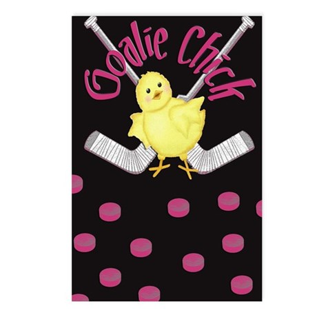 Goalie Chick Postcards (Package of 8)