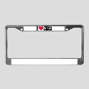 I love camping - camper License Plate Frame