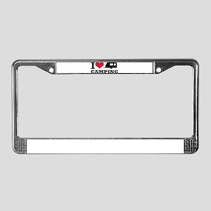 I love camping License Plate Frame