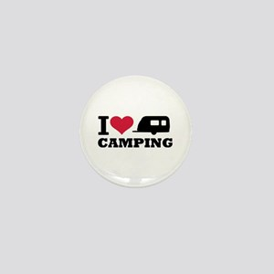 I love camping Mini Button