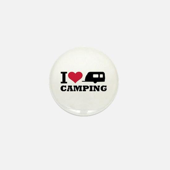 I love camping Mini Button