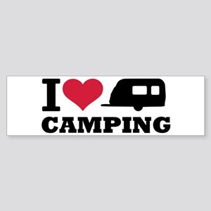 I love camping Sticker (Bumper)