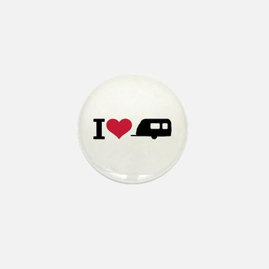 I love camping - trailer Mini Button