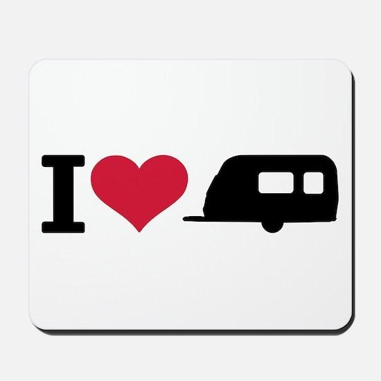 I love camping - trailer Mousepad