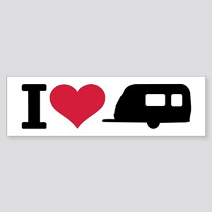 I love camping - trailer Sticker (Bumper)