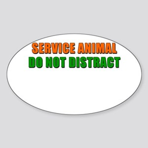 Service Animal Oval Sticker