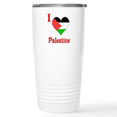 I Love Palestine #5 Stainless Steel Travel Mug