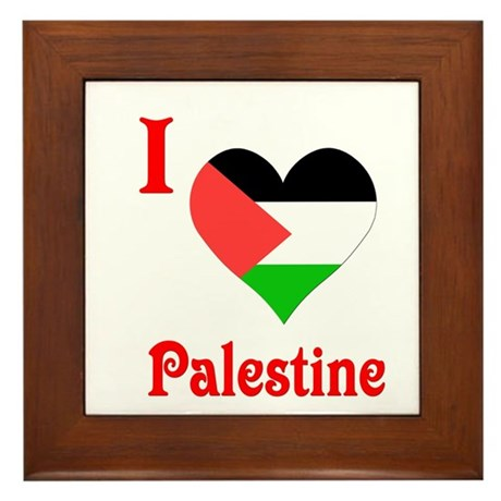 I Love Palestine #5 Framed Tile